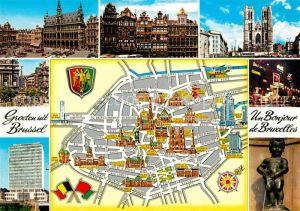 Brüssel Sehenswürdigkeiten Karte.Bruxelles Bruessel Bauwerke Und Sehenswuerdigkeiten Flugzeug