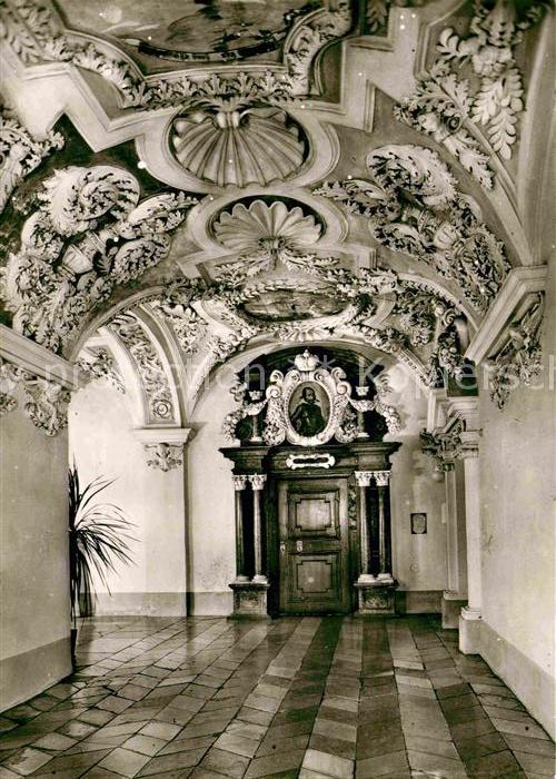 AK / Ansichtskarte Wessobrunn Jugendkurheim Kloster Wessobrunn Fuerstentrakt Gang und Portal Kat. Wessobrunn