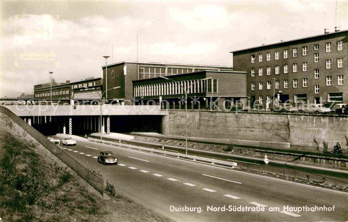 AK / Ansichtskarte Duisburg Ruhr Nord Sued Strasse am Hauptbahnhof Kat. Duisburg