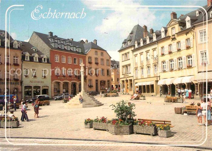 AK / Ansichtskarte Echternach Place du marche avec Croix de Justice Kat. Luxemburg