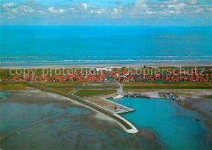 AK / Ansichtskarte Juist Nordseebad Anleger Hafen Fliegeraufnahme Kat. Juist