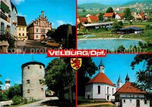 AK / Ansichtskarte Velburg Rathaus Panorama Turm Kirche Kat. Velburg