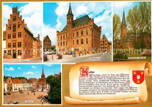 AK / Ansichtskarte Kalkar Niederrhein Museum Rathaus St Nicolai Kirche Markt Kat. Kalkar
