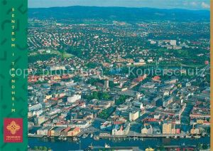 AK / Ansichtskarte Trondheim Sentrum sett fra fly Kat. Trondheim