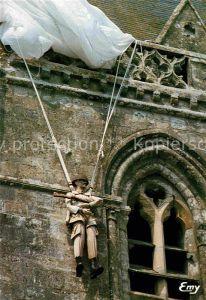 AK / Ansichtskarte Sainte Mere Eglise Clocher eglise Kat. Sainte Mere Eglise