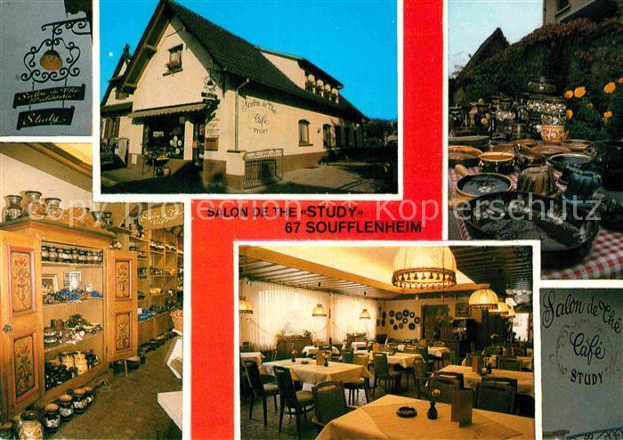 AK / Ansichtskarte Soufflenheim Salon de The Study Kat. Soufflenheim