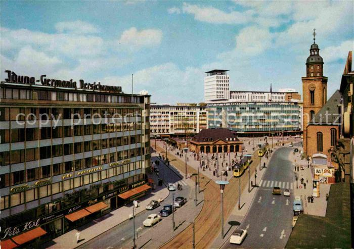 AK / Ansichtskarte Frankfurt Main Hauptwache mit Katharinenkirche Kat. Frankfurt am Main
