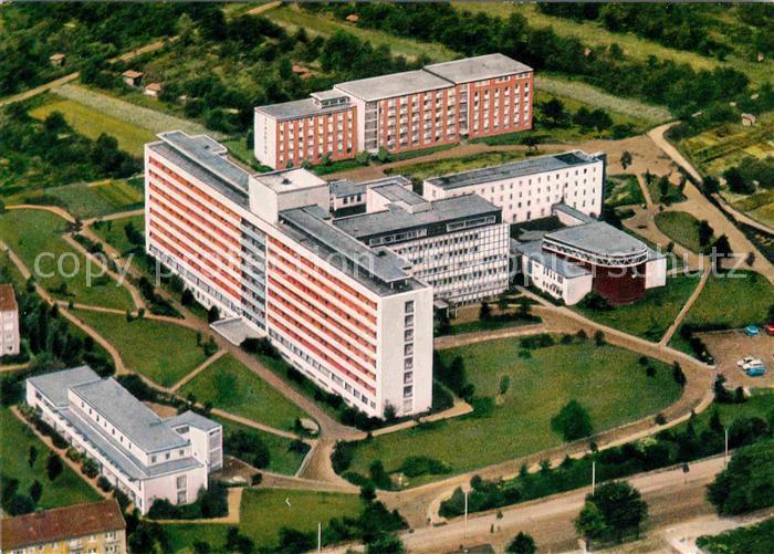 AK / Ansichtskarte Frankfurt Main St Katharinen Krankenhaus Fliegeraufnahme Kat. Frankfurt am Main