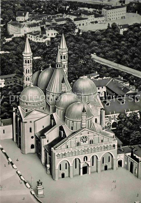 AK / Ansichtskarte Padova Basilica di Sant Antonio Basilika Illustration aus der Vogelperspektive Kat. Padova