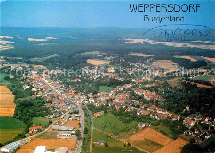 AK / Ansichtskarte Weppersdorf Burgenland Fliegeraufnahme Kat. Weppersdorf