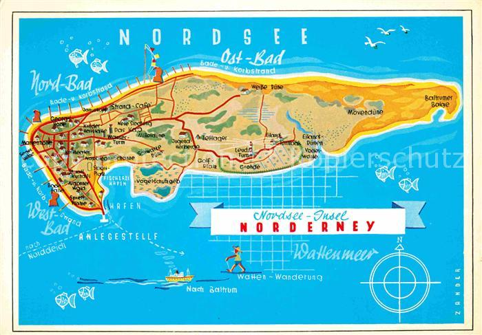 karte norderney Landkarte Von Norderney | Deutschland Karte