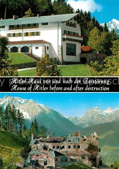 AK / Ansichtskarte Obersalzberg A.H. Haus vor und nach der Zerstoerung Kat. Berchtesgaden