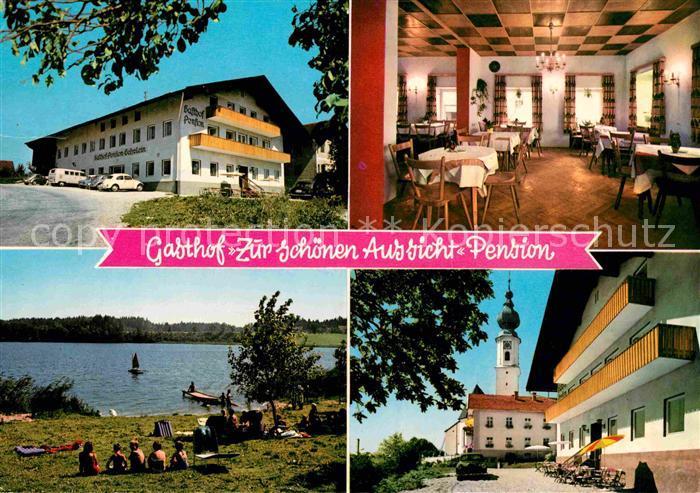 Ak Ansichtskarte Hoeslwang Gasthof Zur Schoenen Aussicht Pension Gaststube Strandbad Kirche Kat Hoeslwang Nr Bx11756 Oldthing Ansichtskarten