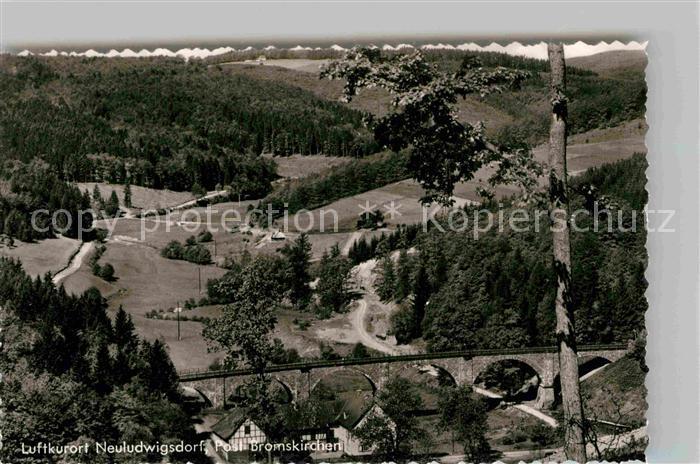 AK / Ansichtskarte Neuludwigsdorf Panorama Blick ins Tal Bruecke Kat. Bromskirchen