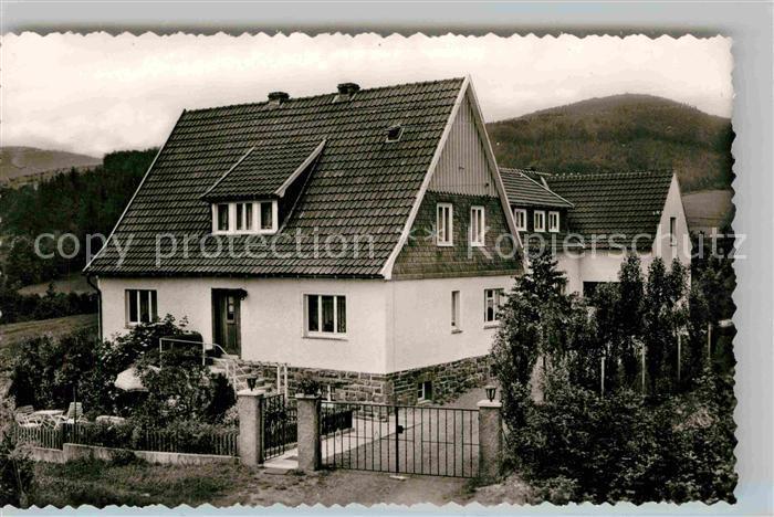 AK / Ansichtskarte Liesen Privatpension Haus zur schoenen Aussicht Kat. Hallenberg