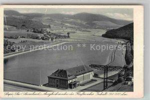 AK / Ansichtskarte Sorpesee Sauerland Staudamm Ausgleichsweiher des Kraftwerkes Kupfertiefdruck Kat. Sundern (Sauerland)