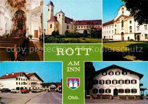 AK / Ansichtskarte Rott Inn Kirche Gasthaus zur Post  Kat. Rott a.Inn