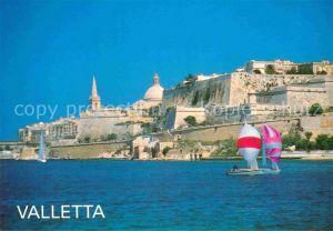 AK / Ansichtskarte Valletta Malta Segelbote Panorama Kat. Malta
