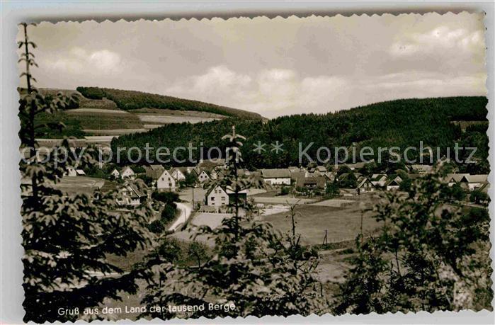 AK / Ansichtskarte Liesen Panorama mit Blick zur Pension Haus zur schoenen Aussicht Kat. Hallenberg