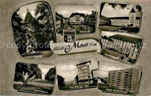 AK / Ansichtskarte Moers Schloss Gymnasium Altmartk Rathaus  Kat. Moers