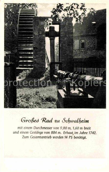 AK / Ansichtskarte Schwalheim Bad Nauheim Grosses Rad Pumpwerk fuer die Gradierwerke Kat. Schwalheim