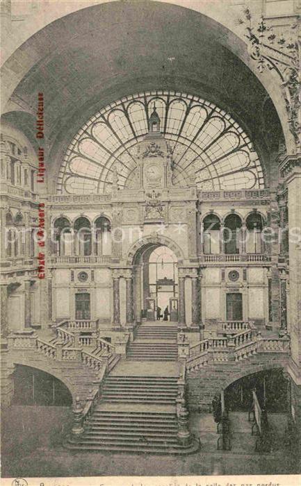 AK / Ansichtskarte Anvers Antwerpen Salle des pas perdus Kat.