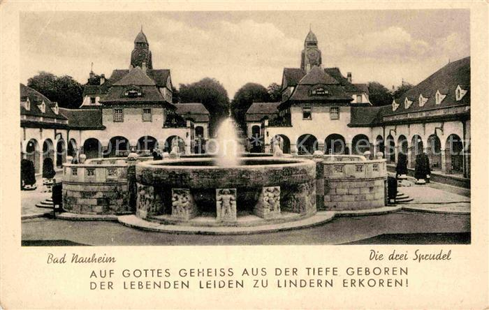AK / Ansichtskarte Bad Nauheim Die drei Sprudel Kat. Bad Nauheim