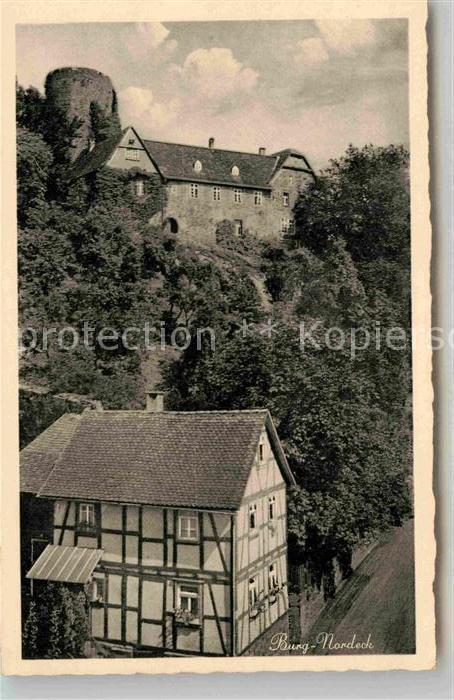 AK / Ansichtskarte Nordeck Blick zur Burg Idyllische Sommerfrische Kat. Allendorf (Lumda)
