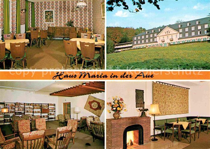 AK / Ansichtskarte Wermelskirchen Haus Maria in der Aue Gastraeume Kaminzimmer Kat. Wermelskirchen