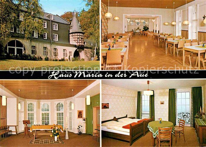 AK / Ansichtskarte Wermelskirchen Haus Maria in der Aue Gastraeume Zimmer Kat. Wermelskirchen