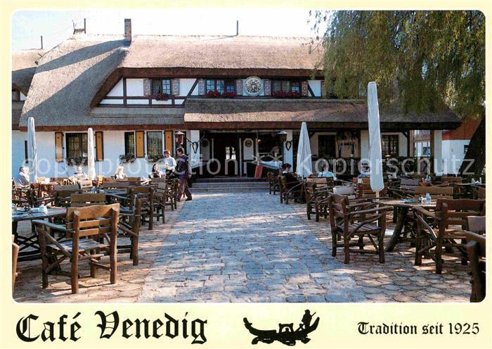 AK / Ansichtskarte Lehde Cafe Venedig Terrasse Kat. Luebbenau Spreewald
