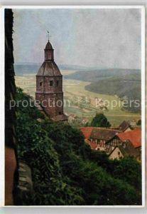 AK / Ansichtskarte Giessen Lahn Blick auf Kirche und Dorf Gleiberg Kat. Giessen