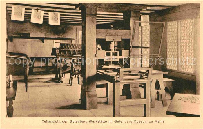 AK / Ansichtskarte Mainz Rhein Gutenberg Werkstaette im Gutenberg Museum