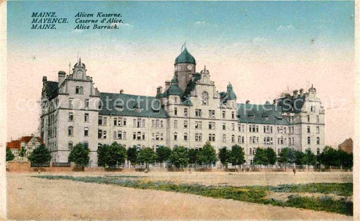 AK / Ansichtskarte Mainz Rhein Alicen Kaserne