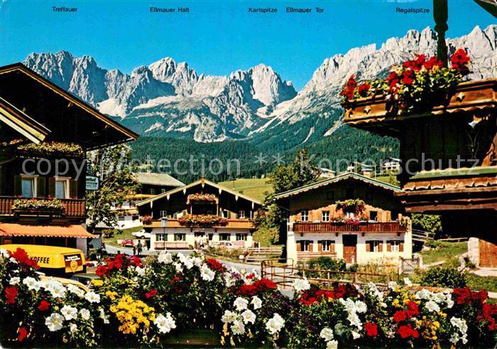 AK / Ansichtskarte Going Wilden Kaiser Tirol Trettauer Ellmauer Halt Karlspitze Ellmauer Tor Regalspitze Kat. Going am Wilden Kaiser