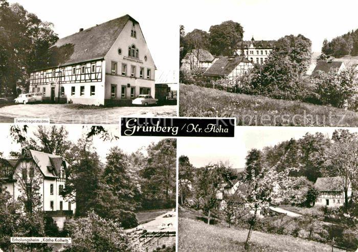 AK / Ansichtskarte Gruenberg Augustusburg Betriebsgaststaette Erholungsheim Kaethe Kollwitz Kat. Augustusburg