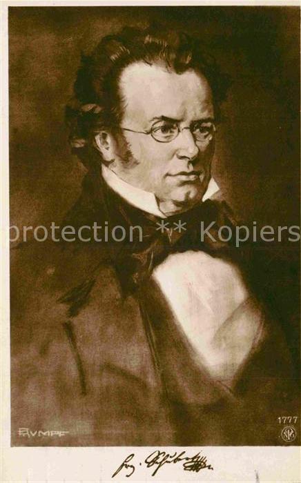 AK / Ansichtskarte Schubert Franz  Kat. Persoenlichkeiten