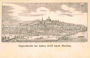 AK / Ansichtskarte Oppenheim Kupferstich 1645 nach Merian Kat. Oppenheim Rhein