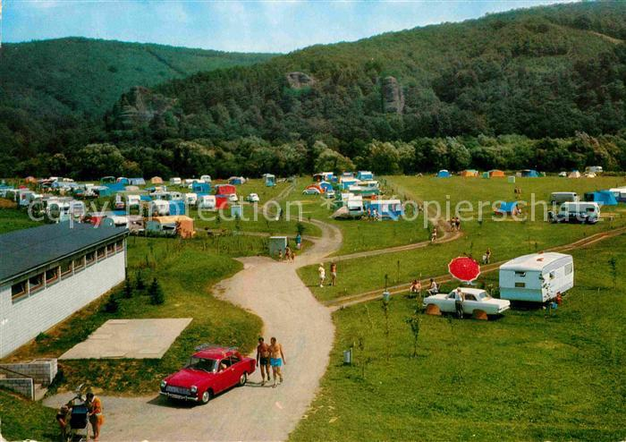 AK / Ansichtskarte Hausen Dueren Campingplatz Rurthal Burg Blens Kat. Heimbach