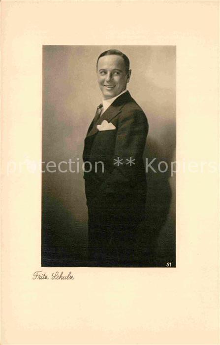 AK / Ansichtskarte Schauspieler Fritz Schulz  Kat. Kino und Film
