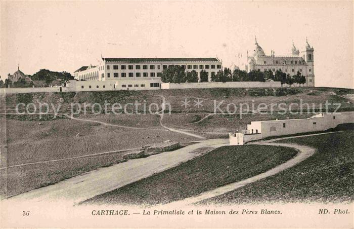 AK / Ansichtskarte Carthage Karthago Primatiale et la Maison des Peres Blancs Kat. Tunis