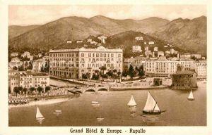 AK / Ansichtskarte Rapallo Liguria Grand Hotel and Europe Kat. Rapallo