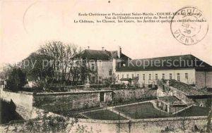 AK / Ansichtskarte Couhe Le Chateau les Classes les Cours les Jardins Kat. Couhe