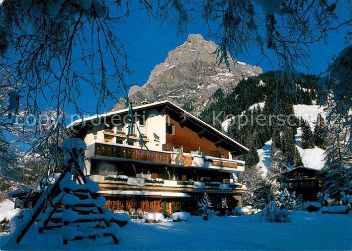 AK / Ansichtskarte Kandersteg BE Hotel Restaurant Ermitage im Winter Kat. Kandersteg