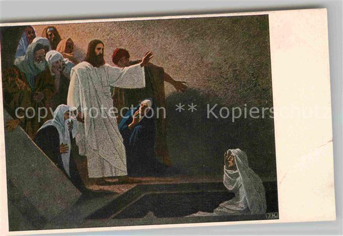 AK / Ansichtskarte Kuenstlerkarte Gebhardt Fugel Die Erweckung des Lazarus  Kat. Kuenstlerkarte