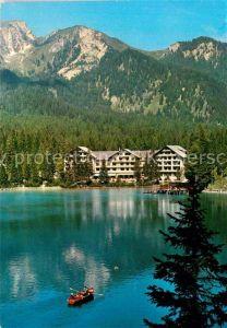 AK / Ansichtskarte Prags Hotel Lago di Braies Dolomiti Hotel Pragser Wildsee Pustertal Dolomiten Kat. Pragser Tal
