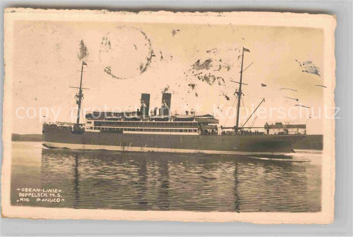 AK / Ansichtskarte Dampfer Oceanliner M.S. Rio Panuco  Kat. Schiffe