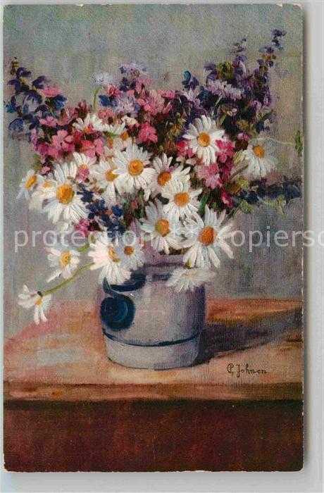 AK / Ansichtskarte Kuenstlerkarte Pauline Jonen Wiesnblumen  Kat. Kuenstlerkarte