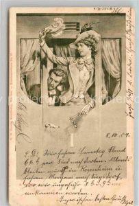 AK / Ansichtskarte Kuenstlerkarte Erdmann Wagner Adieu Zug Abschied Frau Hutmode  Kat. Kuenstlerkarte