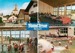 AK / Ansichtskarte Birnbach Rottal Thermalbad Ortspartie mit Kirche